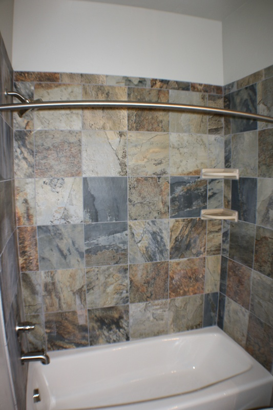 Main bath tile work